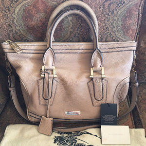 Burberry Prorsum Kirley Pebbled Leather Satchel